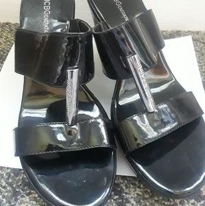 BCBGeneration Wedge Sandals NWOT 9